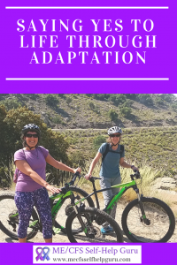 Lynn and I out mountain biking